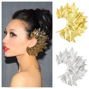 Jewelry - Boho Gold or Silver Leaf Ear Cuff Clip Earring